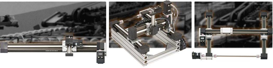 Napędy w robotach kartezjańskich. Różnice pomiędzy napędem umieszczonym klasycznie (z boku) a centralnie